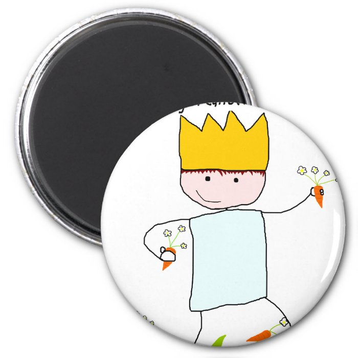 King Of Carrot Flowers 2 Inch Round Magnet