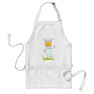 King Of Carrot Flowers Adult Apron