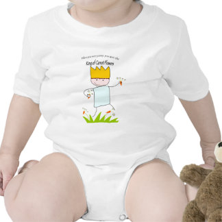 King Of Carrot Flowers Baby Bodysuits