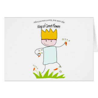 King Of Carrot Flowers Greeting Card