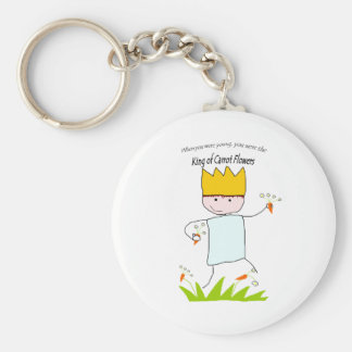 King Of Carrot Flowers Key Chain