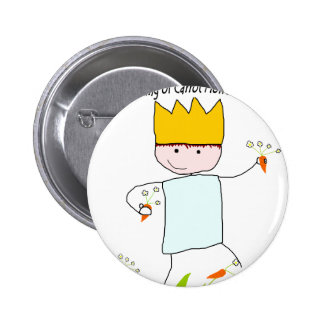 King Of Carrot Flowers Pinback Button