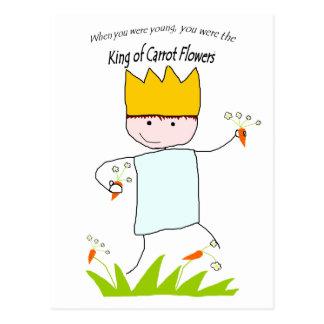 King Of Carrot Flowers Postcard