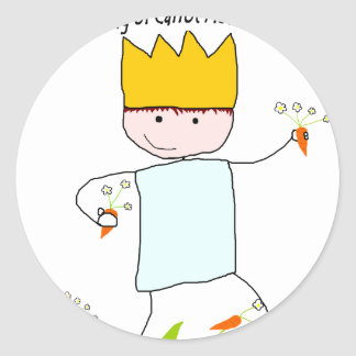 King Of Carrot Flowers Round Sticker