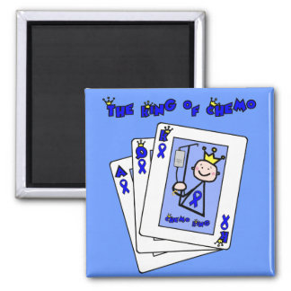 King of Chemo 2 Inch Square Magnet