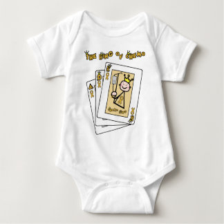 King of Chemo - Childhood Cancer Gold Ribbon Baby Bodysuit