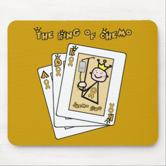 King of Chemo - Childhood Cancer Gold Ribbon Mouse Pad