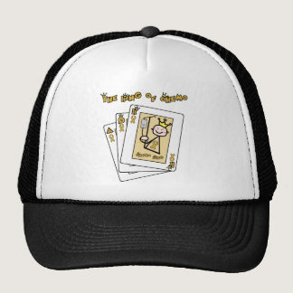 King of Chemo - Childhood Cancer Gold Ribbon Trucker Hat