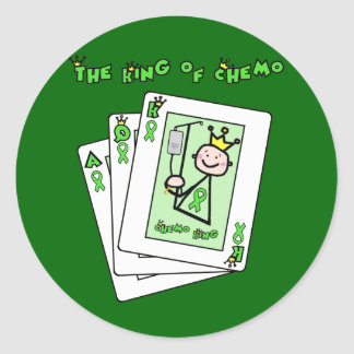 King of Chemo Classic Round Sticker