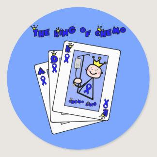 King of Chemo - Colon Cancer Classic Round Sticker
