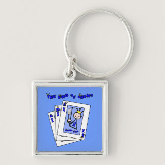King of Chemo - Colon Cancer Keychain