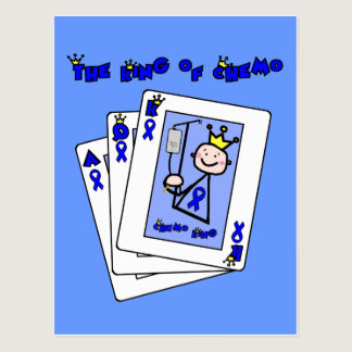 King of Chemo - Colon Cancer Postcard