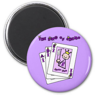King of Chemo Hodgkins Lymphoma 2 Inch Round Magnet