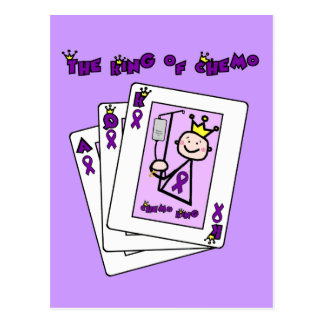 King of Chemo Hodgkins Lymphoma Postcard