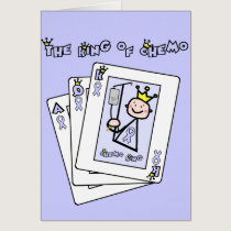 King of Chemo - Lavender Ribbon General Cancer Card