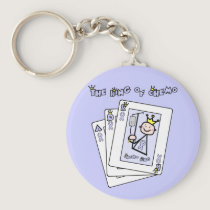 King of Chemo - Lavender Ribbon General Cancer Keychain