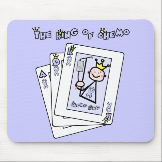 King of Chemo - Lavender Ribbon General Cancer Mouse Pad