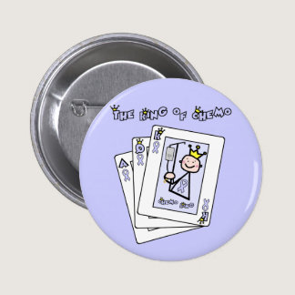 King of Chemo - Lavender Ribbon General Cancer Pinback Button