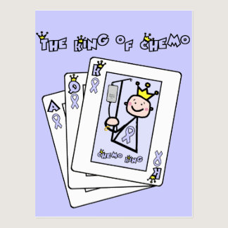 King of Chemo - Lavender Ribbon General Cancer Postcard