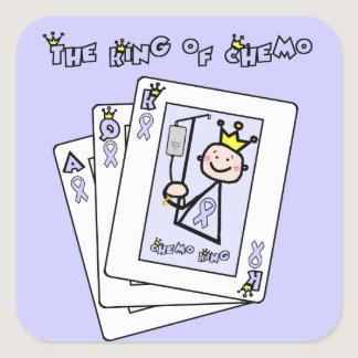 King of Chemo - Lavender Ribbon General Cancer Square Sticker