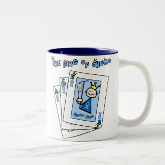 King of Chemo - Prostate Cancer Two-Tone Coffee Mug