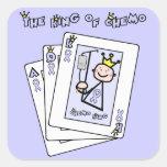 King of Chemo Square Sticker