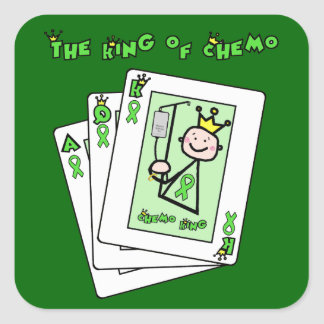 King of Chemo Square Sticker