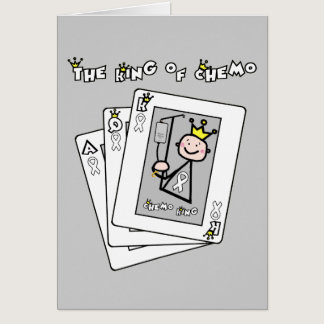 King of Chemo White Ribbon Lung Cancer Card