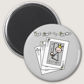 King of Chemo White Ribbon Lung Cancer Magnet