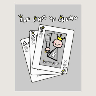 King of Chemo White Ribbon Lung Cancer Postcard