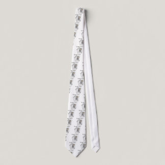 King of Chemo White Ribbon Lung Cancer Tie