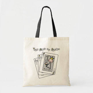 King of Chemo White Ribbon Lung Cancer Tote Bag