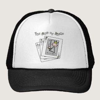 King of Chemo White Ribbon Lung Cancer Trucker Hat