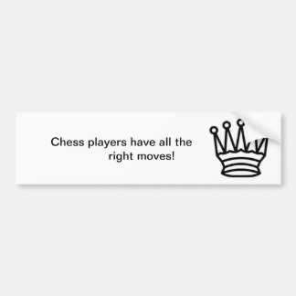 King of Chess Bumper Stickers