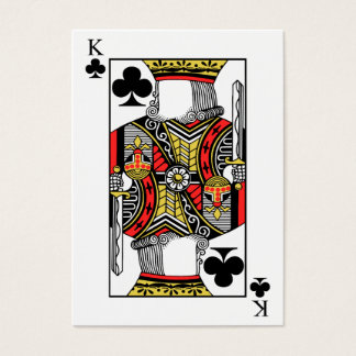 King of Clubs - Add Your Image Business Card