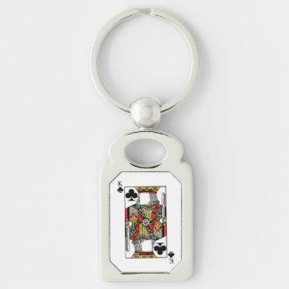 King of Clubs - Add Your Image Keychain