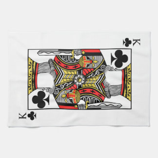 King of Clubs - Add Your Image Kitchen Towel