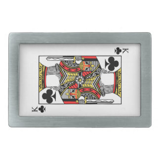 King of Clubs - Add Your Image Rectangular Belt Buckle