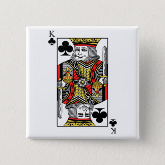 King of Clubs Button