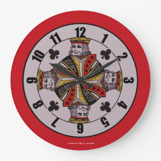 King of Clubs Large Wall Clock