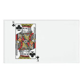 King of Clubs Name Tag