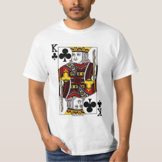 King Of Clubs Playing Card T Shirt