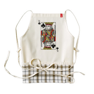 King of Clubs Zazzle HEART Apron