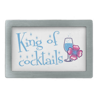King of Cocktails Rectangular Belt Buckle