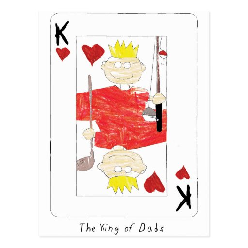 king of dads card postcards