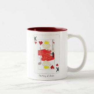 king of dads Two-Tone coffee mug