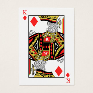 King of Diamonds - Add Your Image Business Card
