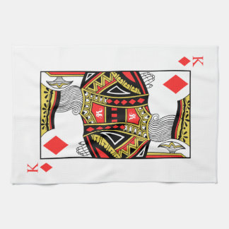 King of Diamonds - Add Your Image Kitchen Towel