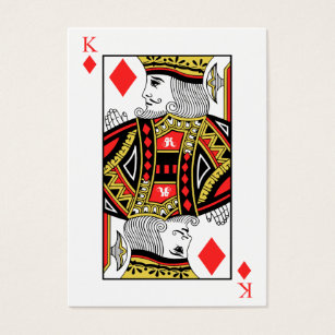 King business cards templates zazzle king of diamonds business card colourmoves Images