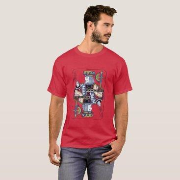 "galxc_designs ""King of Diamonds"" Maroon T-Shirt"